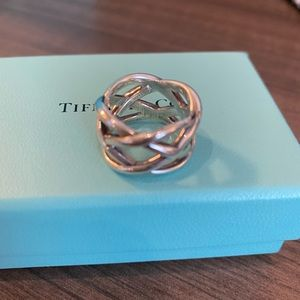 Tiffany sterling silver band Size 5
